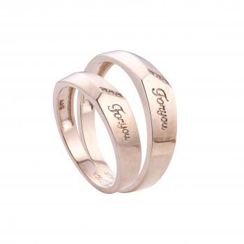 Nhẫn cưới vàng hồng For you 14k
