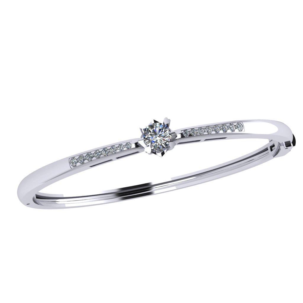 Nhẫn kim cương vàng 18K đá nhỏ