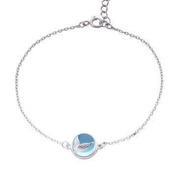 Lắc tay bạc BST Blue Sea