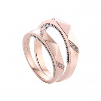 Nhẫn cưới vàng 14k chạm khắc